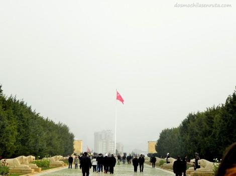 Camino a la Plaza de Ceremonias y Mauseleo de Ataturk