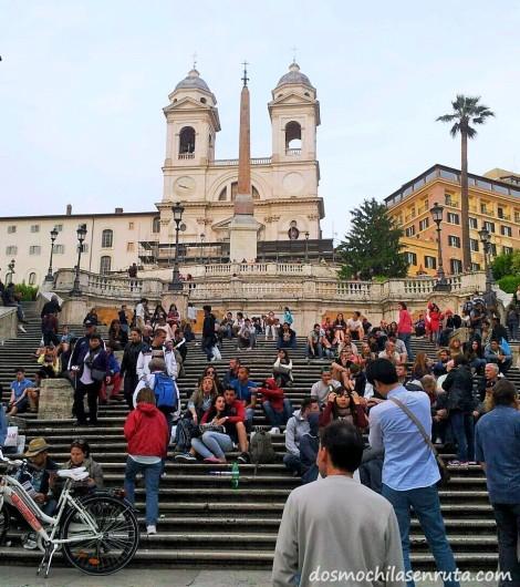 La escalinata de Plaza España