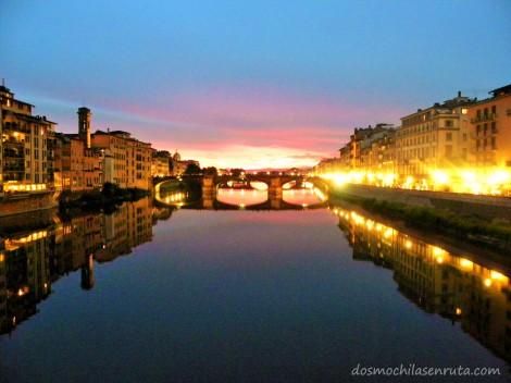 Atardecer en Florencia
