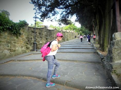 Subiendo a Piazzale Michelangelo