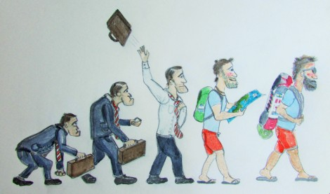 La nueva evolución (dibujo de vamosdibujandoelcamino.com)