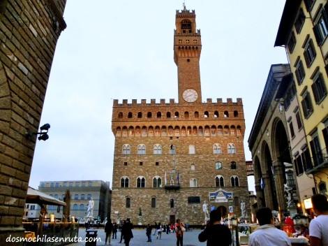 Palazzo Vecchio, actual ayuntamiento de Florencia