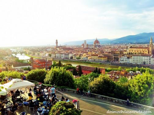 Increíbles vistas de Florencia desde Piazzale Michelangelo