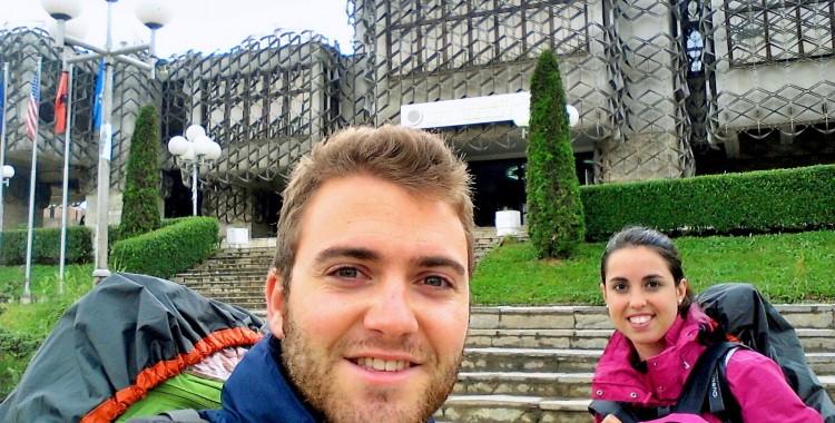 En la Biblioteca Nacional de Kosovo