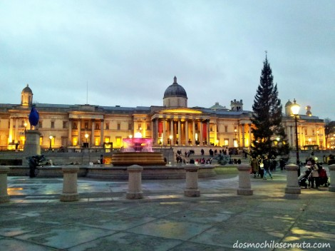 El National Gallery en Trafalgar Square